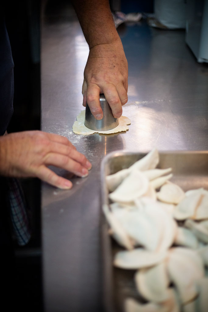 One of Aldo's signature dish is hand made Ravioli.