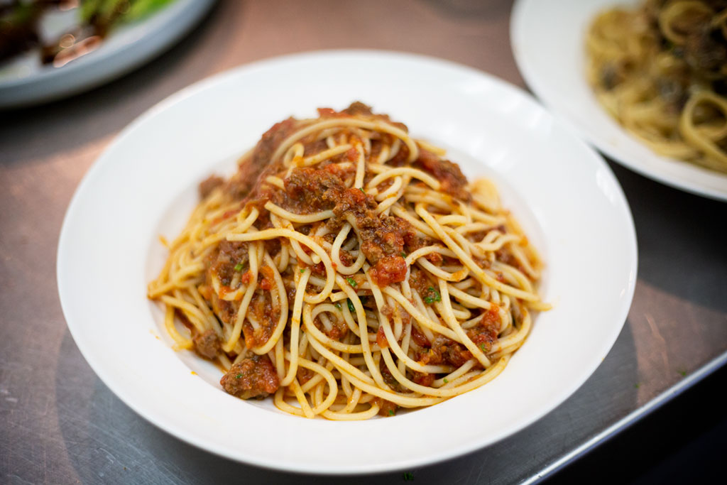 Spaghetti Bolognese with Aldo's special meat sauce